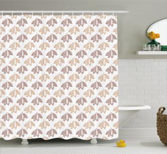 Vintage Art Diagonal Pattern Shower Curtain
