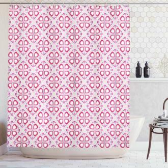 Feminine Pink Composition Shower Curtain