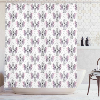 Classic Baroque Wings Shower Curtain