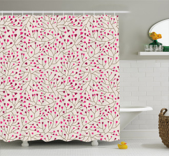 Floral Branches Romantic Shower Curtain