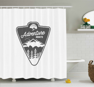 Camping and Hiking Shower Curtain