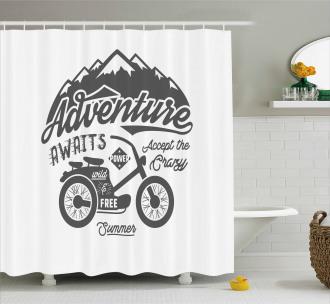 Mountains Bike Shower Curtain