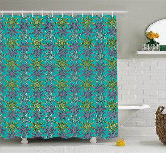 Colorful Abstract Petals Shower Curtain