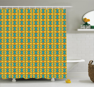 Kaleidoscopic and Ethnic Shower Curtain