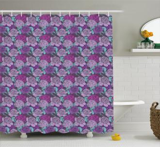 Pastel Tone Delicate Peonies Shower Curtain