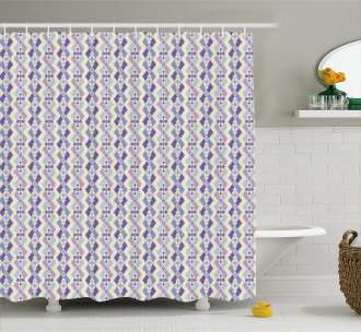 Middle Eastern Geometric Motif Shower Curtain