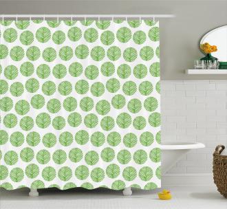 Green Spring Leaf Shower Curtain