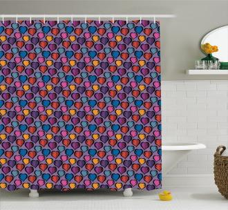 Classic Love Symbol Motif Shower Curtain