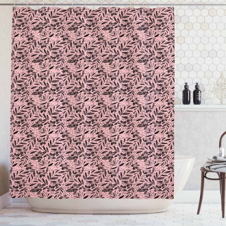 Exotic Leaves Summer Shower Curtain