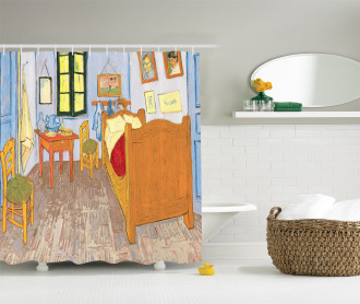 Painting of Room Interior Shower Curtain