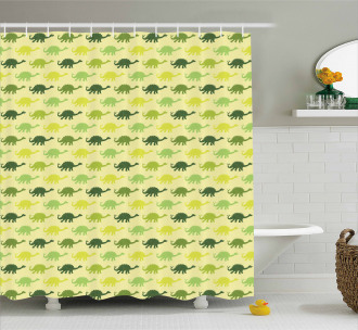 Pattern of Stegosaurus Shower Curtain