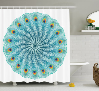 Peafowl Feathers Shower Curtain
