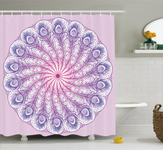 Kaleidoscope Effect Shower Curtain