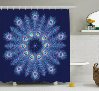 Mystical Feathers Shower Curtain