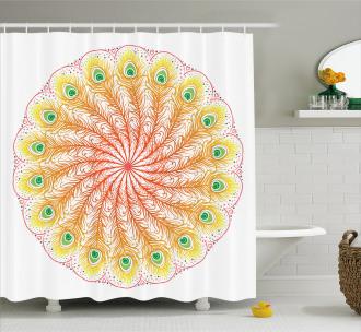 Blended Color Motif Shower Curtain