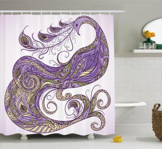 Fantastic Peafowl Shower Curtain