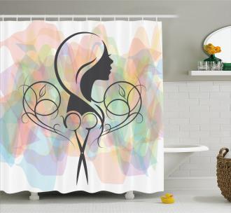 Hair Dresser Concept Shower Curtain