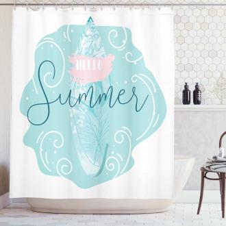 Surfboard Abstract Sea Shower Curtain