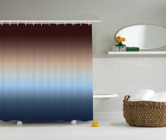 Gradual Color Change Shower Curtain