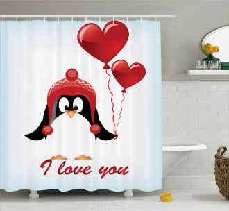 Balloons I Love You Shower Curtain