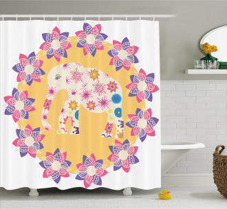 Wild Animal Flowers Shower Curtain