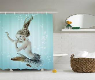 Mythologic Mermaid Shower Curtain