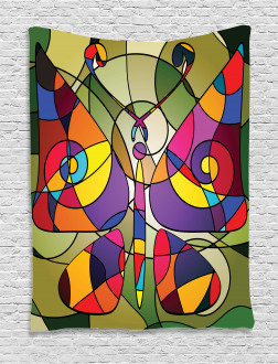 Abstract Butterfly Art Tapestry