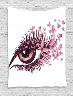 Fairy Woman Eyelashes Tapestry