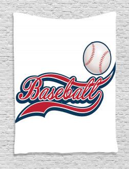 Baseball Ball Sports Tapestry