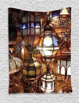 Evening Arabic Lantern Tapestry