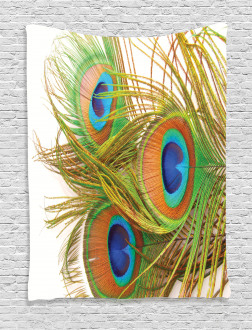Modern Peacock Feathers Tapestry