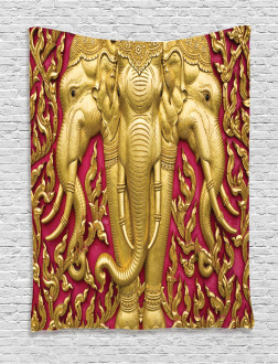 Thai Art Temple Door Tapestry