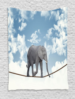 Classic Elephant Balance Tapestry