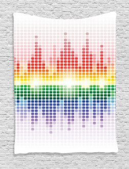 Vibrant Colors Club Disco Tapestry