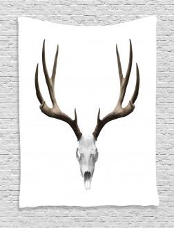 Deer Skull Skeleton Tapestry