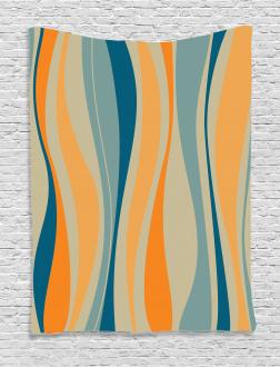 Retro Vibrant Stripes Tapestry