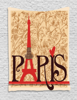 Paris Eiffel Tower View Tapestry