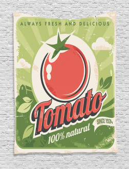 Vintage Tomato Poster Tapestry