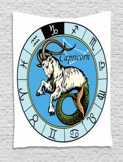 Ancient Icon Capricorn Tapestry