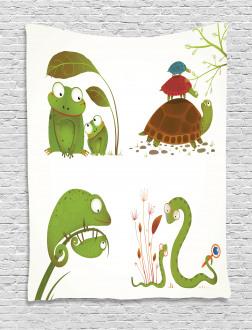 Snake Frog Ninja Reptile Tapestry