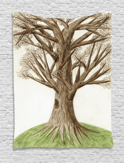 Artsy Sketch Nature Tapestry