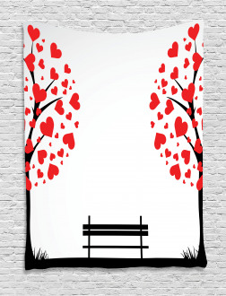 Heart Romance Love Art Tapestry