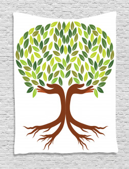 Symbolic Eco Tree Tapestry