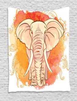 Eastern Elephant Pattern Tapestry