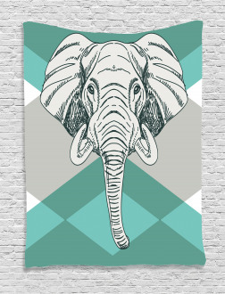 Minimalist Boho Elephant Tapestry