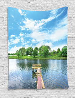 Wooden Dock over Lake Tapestry
