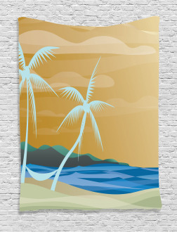 Sandy Exotic Beach Tapestry