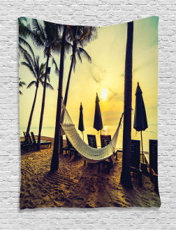Coconut Exotic Palm Trees Tapestry