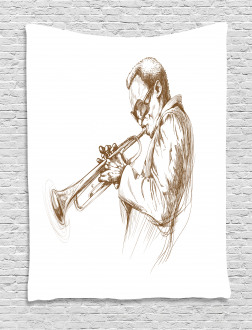 Sketchy Solo Jazz Band Tapestry