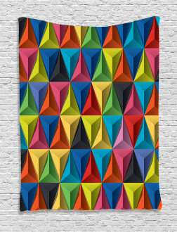 Pyramid Forms Modern Tapestry